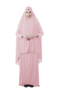 Image 5 - Kalenmos Formal Muslim Prayer Garment Sets Women Hijab Dress Abaya Islamic Clothing Dubai Turkey Namaz Long Khimar Jurken Abayas