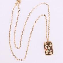 6Pcs Charm Gold Filled Rainbow Zirconia CZ Micro Pave Women Jewelry Fashion Pendant Necklaces