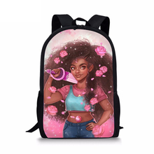 HaoYun Kids Primary Backpacks Kawaii African Girls Prints Pattern School Bags Black Afro Arts Designer Students Book