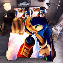 Hot cartoon anime bedding set cartoon quilt cover pillowcase without sheets 3 piece bedding