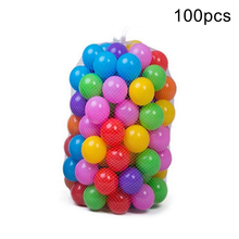 100Pcs Colorful Baby Plastic Balls Water Pool Ocean Wave Ball Kids Swim Pit Hoop Play House Outdoors Tents Fun Sports Baby Toy