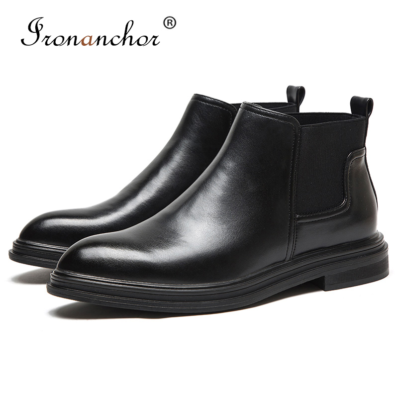 2019 winter Men ankle boots warm rubber Luxury High Quality men winter shoes #XYDS08