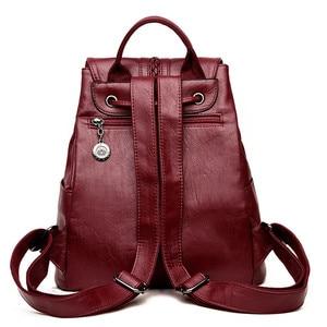 Image 4 - Bagpack Luxury Women Backpack Genuine Leather Backpacks for Teenage Girls Female School Shoulder Bags For Women 2019 Mochila Sac