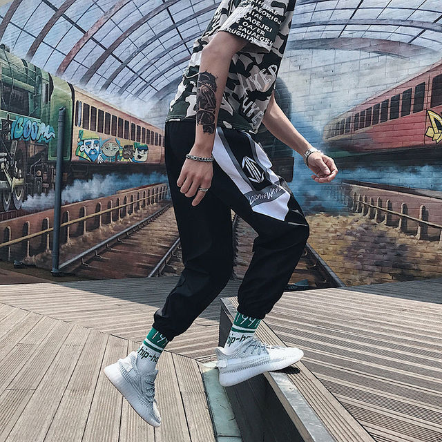Streetwear Hip hop Joggers Pants Men Loose Harem Pants Ankle Length Trousers Sport Casual Sweatpants White Techwear 4