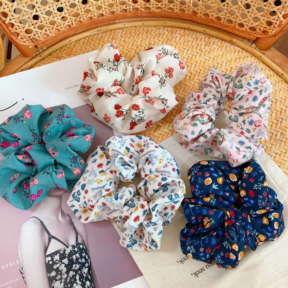 Fabric Women Hair Rope Floral Rubber Band Female Hair Ties Headdress Hair Accessories