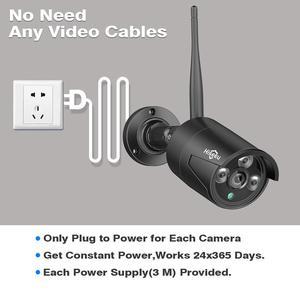 Image 3 - Hiseeu 8CH Wireless NVR 1080P HD Outdoor Home Security Camera System CCTV Video Surveillance NVR Kit 1080P Wifi Camera Set black