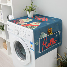 Nordic INS Cartoon Animal Print Dust Cover Washing Machine Refrigerator Microwave Waterproof Oil-proof Sunscreen Cover Towel
