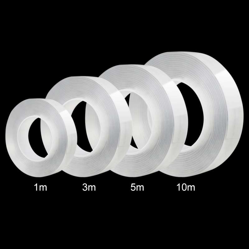 1/3M Double Sided Adhesive Nano Traceless Tape Removable Sticker Washable Loop Disks Transparent Silicone High Strength