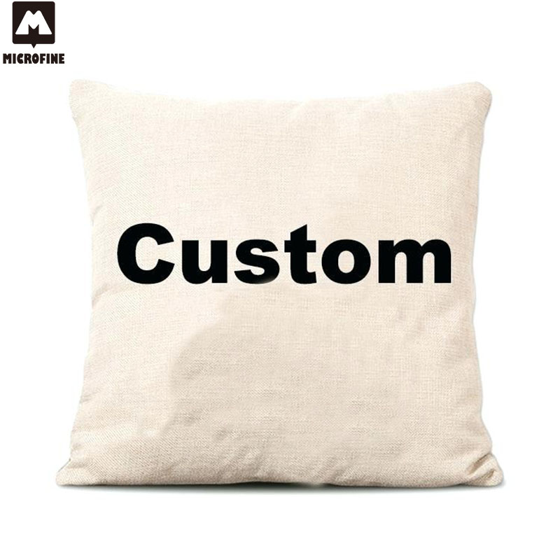 Microfine Custom <font><b>Cushion</b></font> <font><b>Cover</b></font> Pillowcases Decorative Pillows For Sofa Linen Cotton Throw Pillow <font><b>Covers</b></font> 40x40/<font><b>50x50</b></font>/45x45cm 2019 image