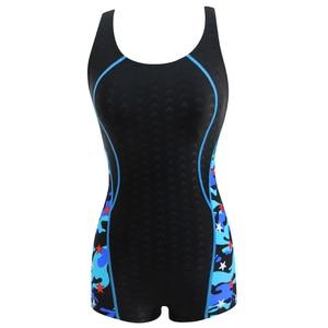 Image 4 - Riseado ספורט שחייה חליפות נשים חתיכה אחת בגד ים 2020 רייסר חזרה בגדי ים נשים Boyleg טלאים רחצה חליפות