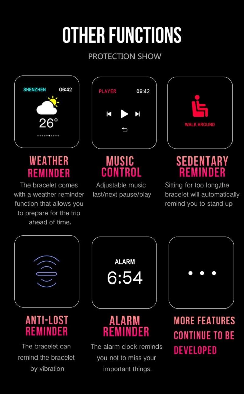 Oxigênio IP67 Homens Mulheres Esporte Reloj Smartwatch inteligente