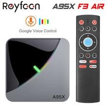 Android 9,0 RGB светильник Smart TV Box Amlogic S905X3 USB3.0 1080P H.265 4K 60fps Wi-Fi Google плеер Youtube A95X F3 воздуха 8 к коробка