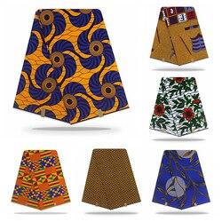 아프리카 네덜란드 왁스 인쇄 직물 고품질 목화 물자 ankara 직물 바느질 진실한 네덜란드 진짜 왁스 옷을위한 6 야드