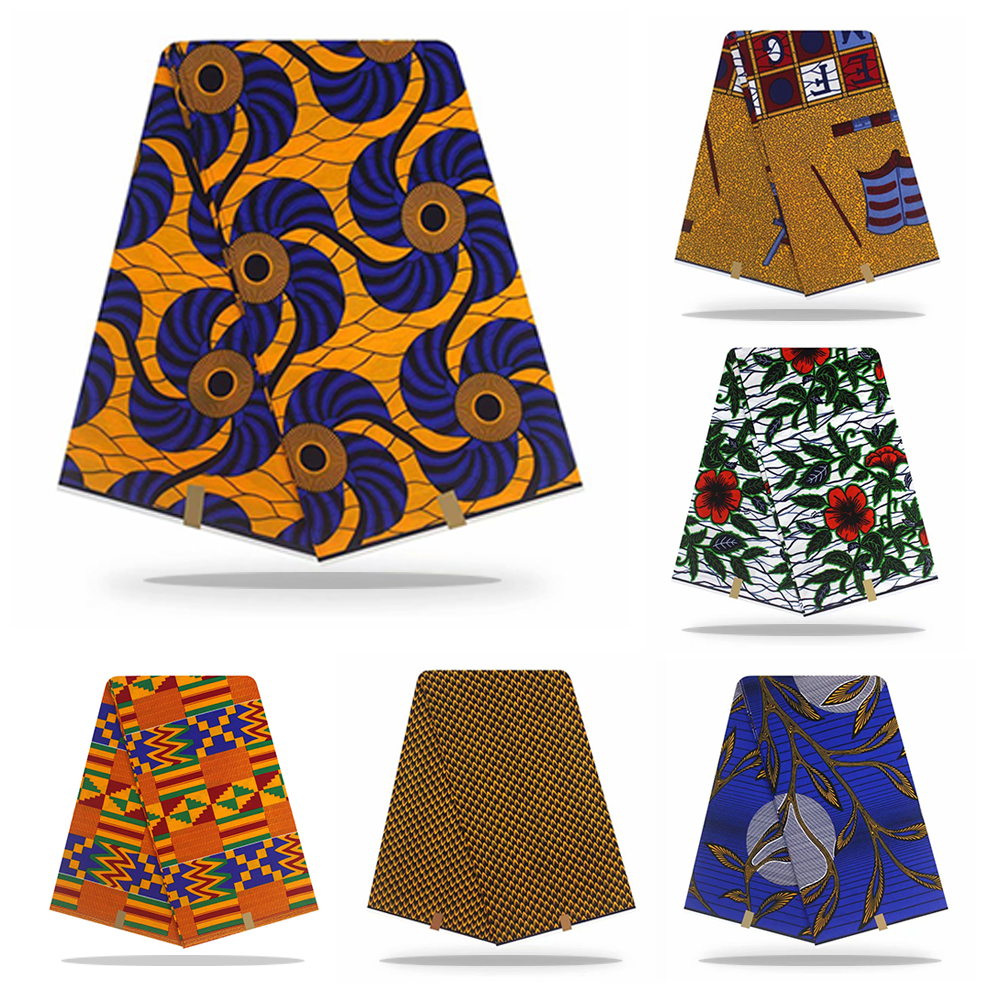 African Wax Print Fabric High Quality Cotton Material Ankara Fabric Sewing Veritable Dutch Real Wax 6yard For Clothes