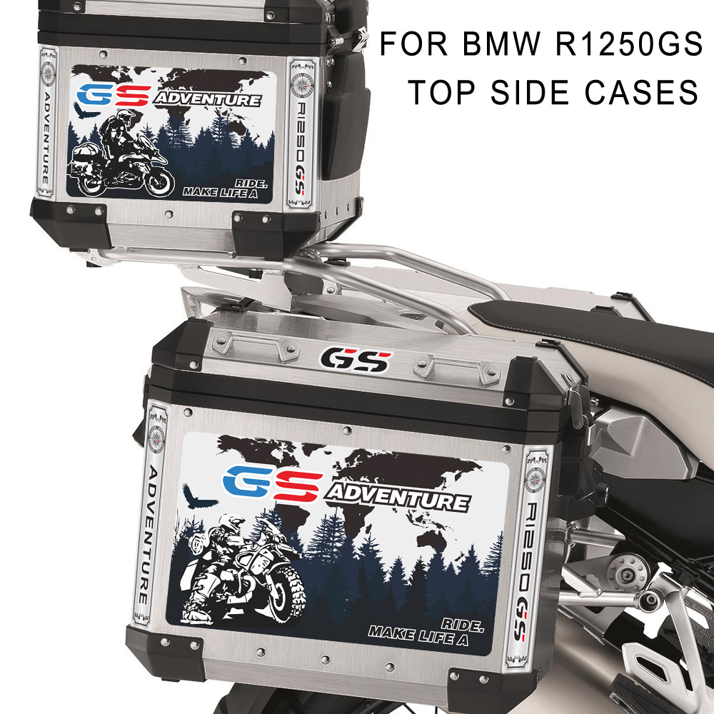 Stickers Decals Motorcycle Tail Top Side Box Cases Panniers Luggage Aluminium Adventure For BMW R1250GS R1250 1250 R ADV GS Case