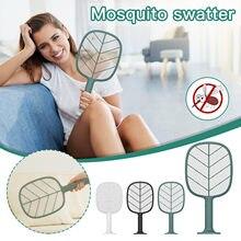 Raquete mosquito usb elétrica fly swatter assassino mosquito fly catcher mosquito zapper para suporte e parede pendurado mata moscas novo