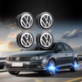 4 шт. 56 мм светящаяся Магнитная подвеска светодиодный логотип эмблема значок колеса центр Крышка Ступицы для VW Volkswagen Jetta Golf Beetle CC EOS GTI