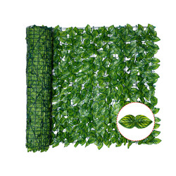 Artificial Leaf Screening Roll UV Fade Protected Privacy Hedging Wall Landscaping Garden Fence Balcony Screen for Decoration