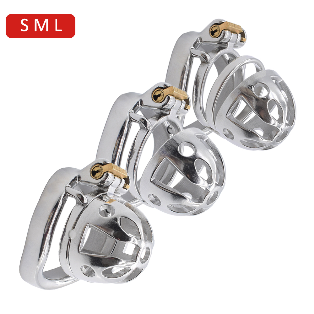 NUUN sissy chastity cage ultra small metal male chastity device medium steel cock cage large bondage penis <font><b>sex</b></font> <font><b>toys</b></font> for <font><b>CBT</b></font> play image