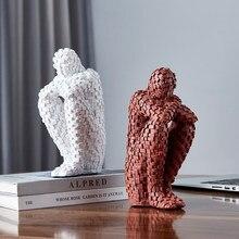 Hause Dekoration Zubehör Modernen Denken Menschlichen Figuren Harz Abstrakte Statuen Wohnzimmer Dekoration Büro Schreibtisch Dekor
