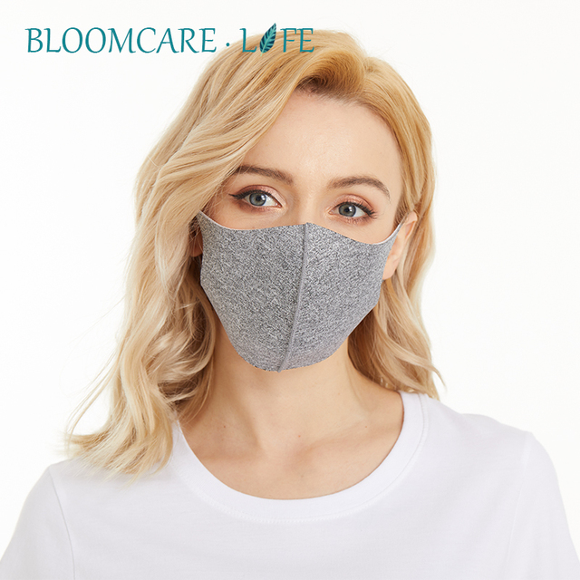 Ship in 24 Hours 【BloomCare】 Anti Flu Sunblock Mouth Mask 3D Fashion Black Color, Reusable Dust Proof Soft Face Mask Breathable 1