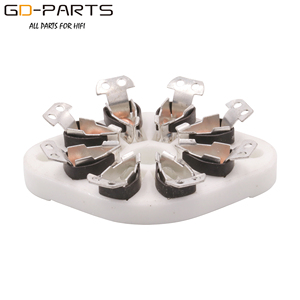 Image 5 - GD PARTS 10PCS Chassis Mount 8pin K8A Octal Ceramic tube sockets for KT88 EL34 6SN7 5AR4 GZ34 5881 6V6 5U4G 6550 6J7 6SJ7 6CA7