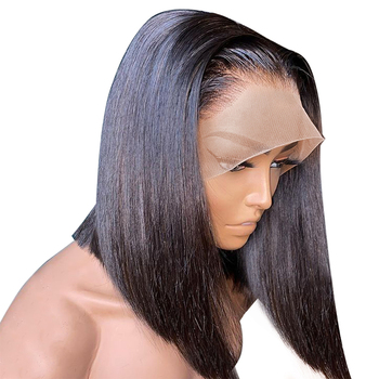 Short Straight Bob Wig 13x4 Lace Front Human Hair Wigs For Black Women Brazilian Lace Frontal Wig Pre Plucked Wig With Baby Hair