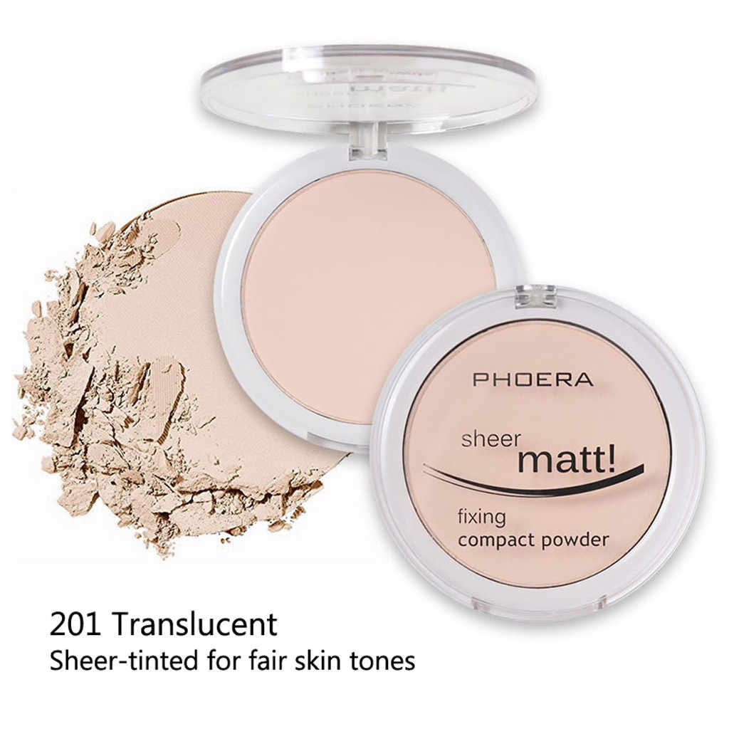 Phoera Pulver Concealer Matte Perle Finishing Pulver Gedrückt Pulver 8 Farben Косметика Concealer Gesicht Make Up Консилер