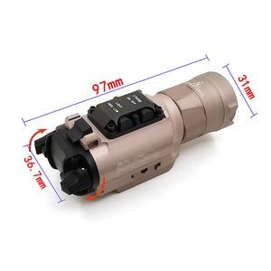 Image 2 - XH35 Waffe licht Taktische Taschenlampe Airsoft Dual Ausgang Ultra Hohe Weiße LED Helligkeit Strobe Fit 20mm Schiene