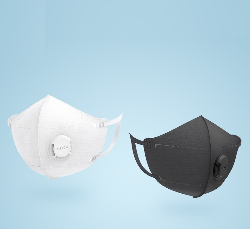 New 2pcs Airpop Portable Mask PM2.5 Anti-haze Face Mask Foldable Comfortable Stereoscopic Crop Not Facing The Face Not Sulkin