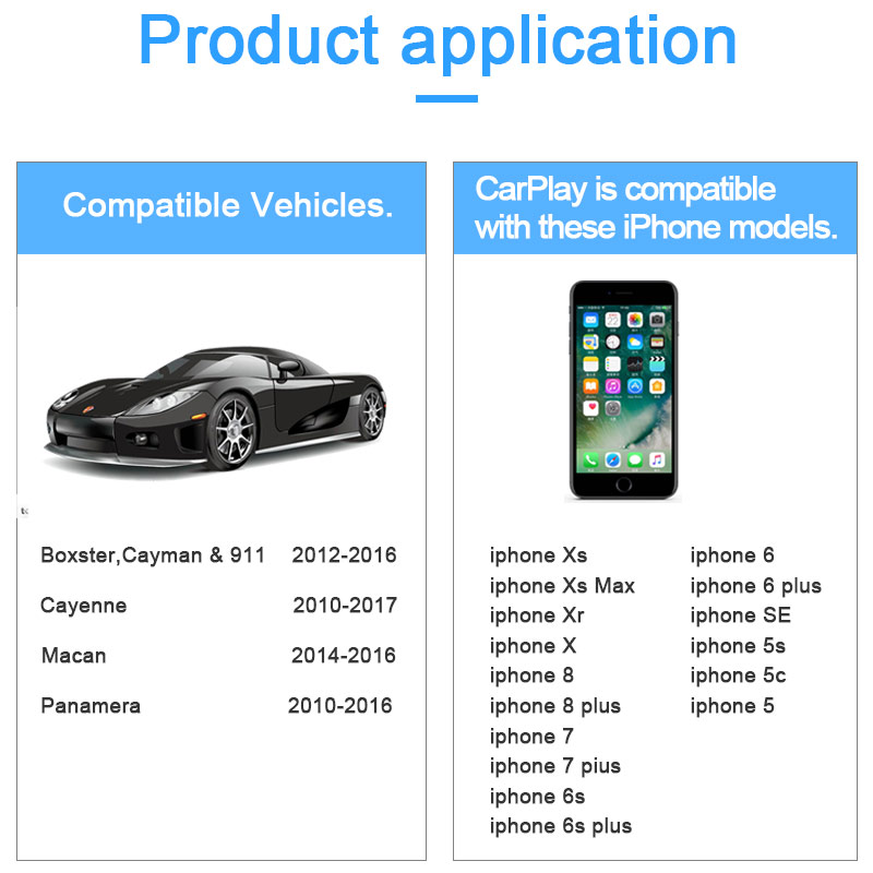 Wireless  Apple Carplay Porsche PCM3.1 Android Auto For Cayenne Macan Cayman Panamera 911 Multimedia Mirror