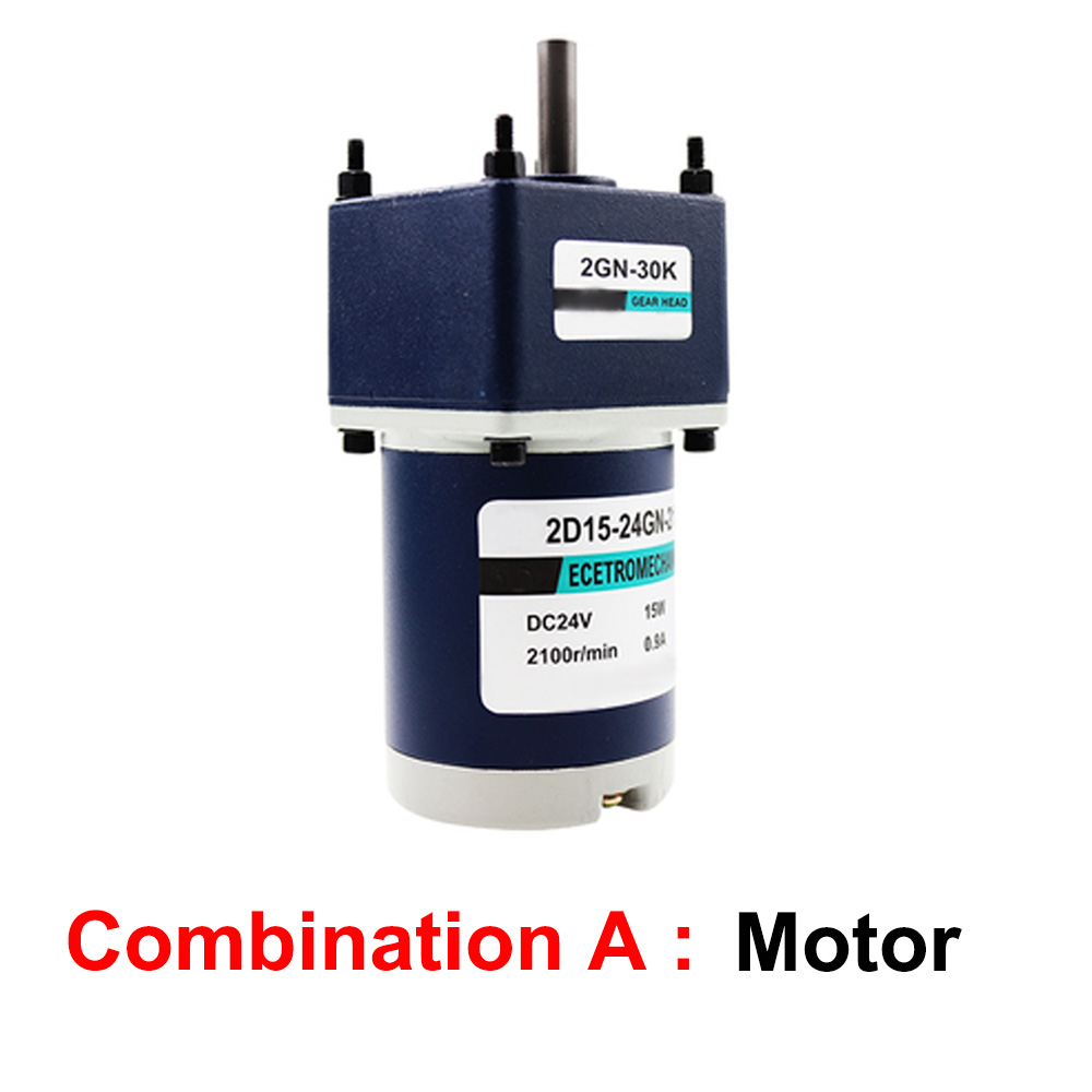 12RPM Beennex DC 24V 15W Permanent Magnet Reduction Gear Motor 8mm Shaft Adjustable Speed CW//CCW