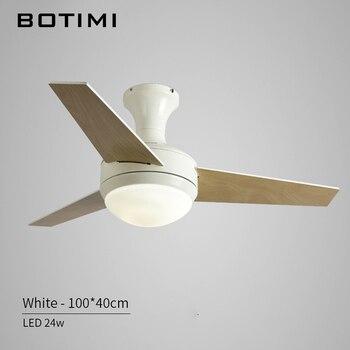 BOTIMI Praktische LED Decke Fan Für Niedrige Decke Moderne Fan Lichter Fernbedienung Kühlung Decke Fans Innen Beleuchtung Fan Lampen Leuchte