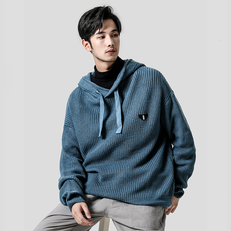 2019 New Autumn And Winter Korean Version Of The Couple Stitching Labeling Men's Casual Hooded Sweater Large Size