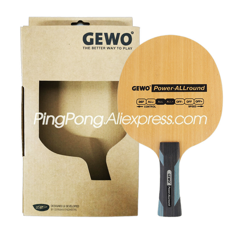 GEWO Power Allround Table Tennis Blade / Racket (ALL & ALL+) 5 Ply Wood Original GEWO Ping Pong Bat / Paddle