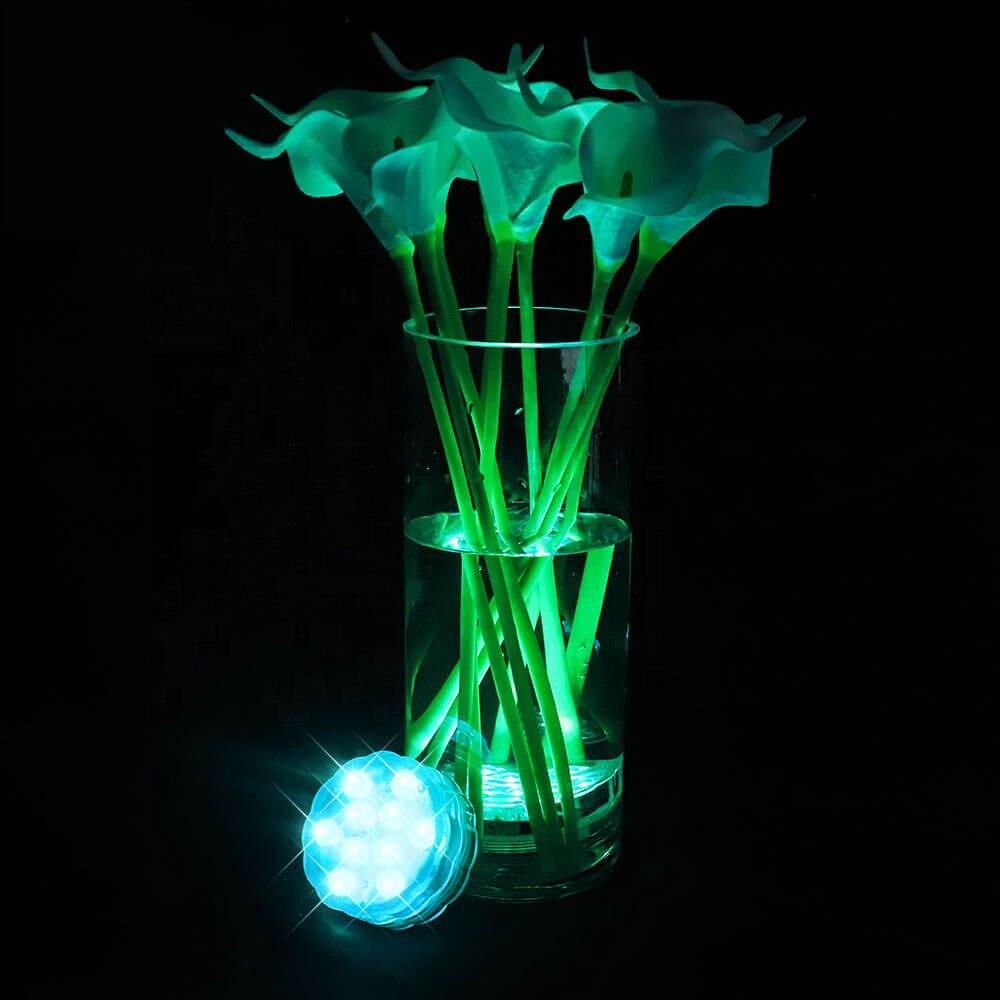 Luz led submersível de controle remoto (rf),