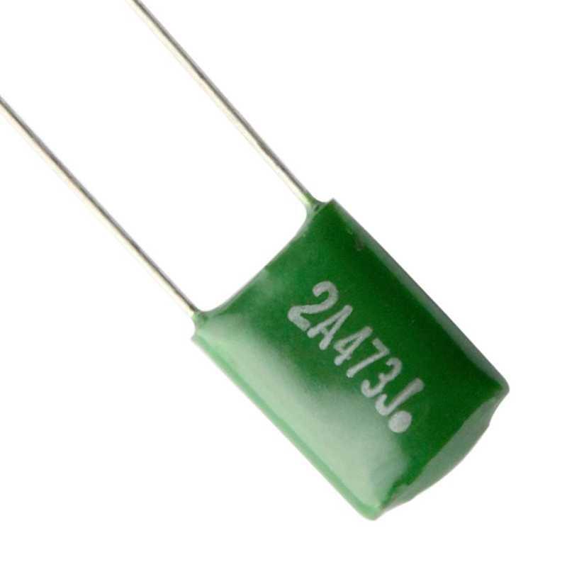 10 peças 0.047/2a473j capacitores diy para guitarras elétricas baixo tampões de tom verde