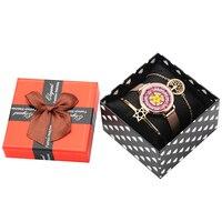 Bracelet Set Rose Gold Open Cuff hexagram pendant Bracelet for Women Female Crystal Tree of Life Round Bracelets Christmas Gift