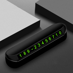 Car Temporary Parking Card Phone Number Card Plate Telephone Number Car Park Stop Automobile Accessories Car-styling Black