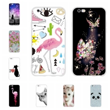 For Apple iPhone 5 5s SE Case Thin Soft TPU Silicone 6 6s Cover Floral Patterned Shell
