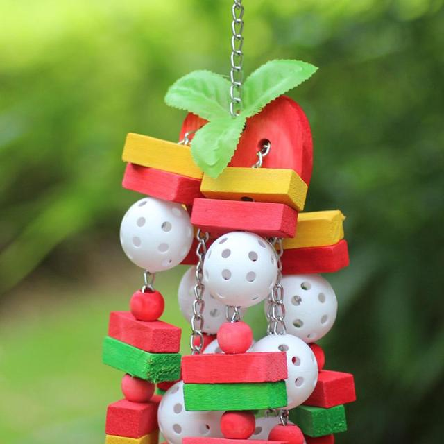 Large parrot birds toys parrot chewing toys Swing parrot toys with Colorful Wood