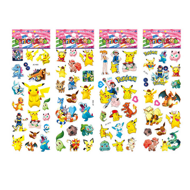 3D Pokemoner Go Stickers Wall Decor For Laptop Cute Pikachu Scrapbooking Sticker Decal Fridge Skateboard Doodle
