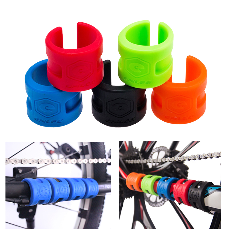 ENLEE MTB 3pcs Bicycle Protective Gear collision frame rubber protection ring road mountain bike guard chain protector stickers