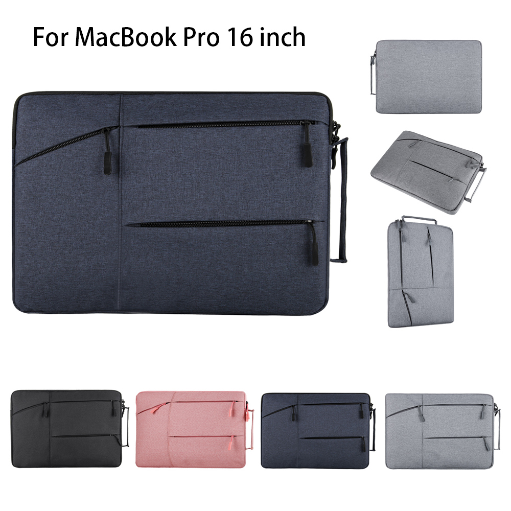 For MacBook Pro 16 Inch Laptop Case Multi-Functional Notebook Pouch Protective Dustproof Portable Briefcase Computer Gift Bag