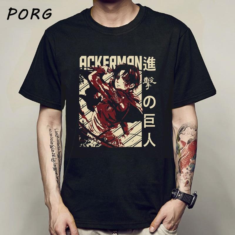 Attack on Titan Graphic T-shirt Men Anime Ackerman Cool Tshirt Titans Attack Shingeki No Kyojin T Shirt Harajuku Top Tees