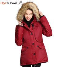 Женская зимняя куртка на хлопковом наполнителе теплая плотная