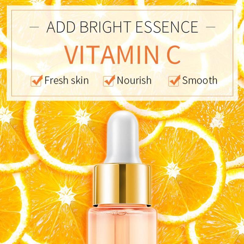 24k Gold Vitamin C Snail Face Serum Hyaluronic Acid Whitening Moisturizing Cherry Primer Anti Wrinkle Nourish Skin Care Hot 17ml