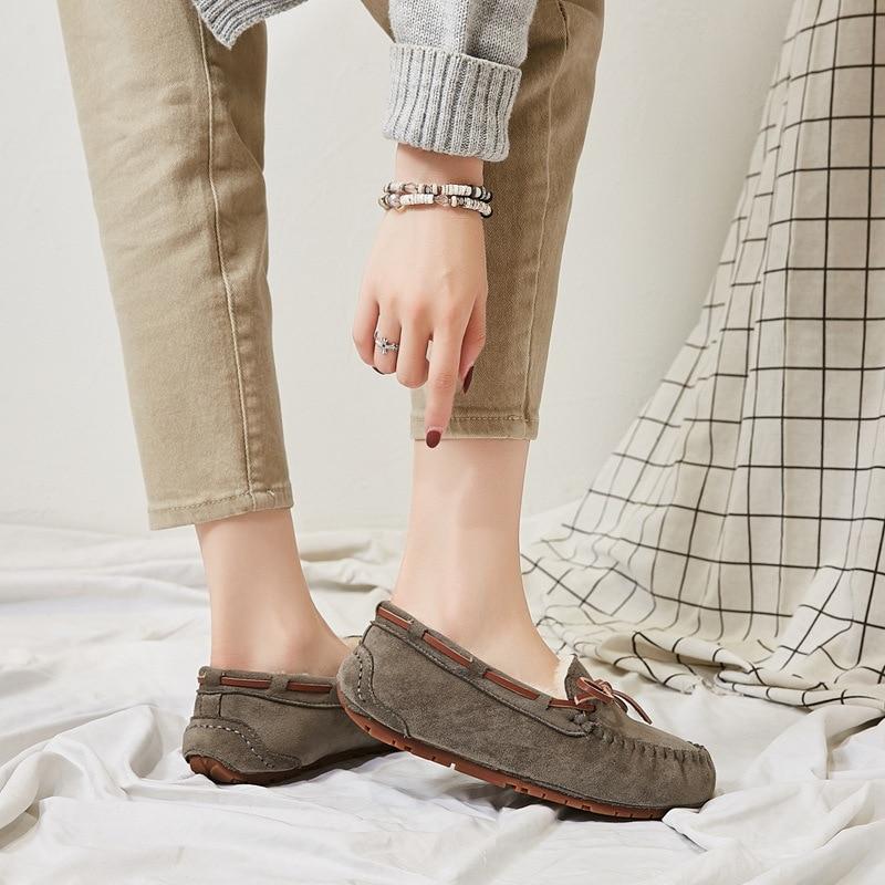 Женские эспадрильи, лоферы на плоской подошве, без застежки, Мокасины с бантом бабочкой, теплые Мокасины, модель 2020 года|Обувь без каблука| | АлиЭкспресс