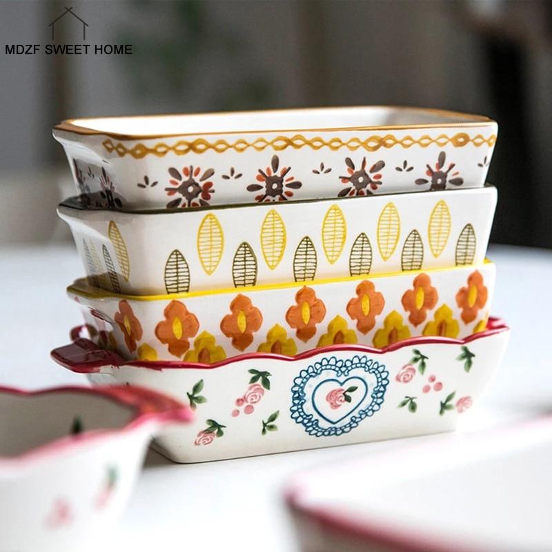 1607.0¥ 19% OFF MDZF SWEETHOME Ceramic Baking Dish Roasting Lasagna Pan  Rectangular Dish Bakeware ...