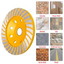 125mm/4.92inch 8 Holes Durable Grinding Wheel Diamond Grind Cup Disc Concrete Granite Stone Grinder DIY Power Tool